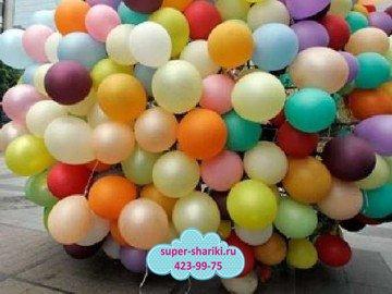 Креативный надув шаров от арт-студии «Супер-Шарики», надувные шары недорого и надувные шарики недорого, шарики в нижнем, надуть шары