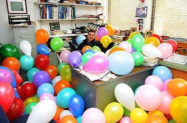 оформление шарами 50 лет