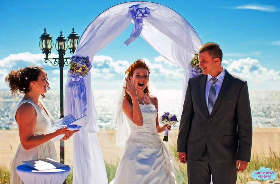 свадебная арка, выездная регистрация