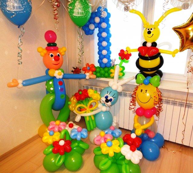 украсить день рождения 1 годик