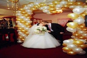 украшение шарами на свадьбу